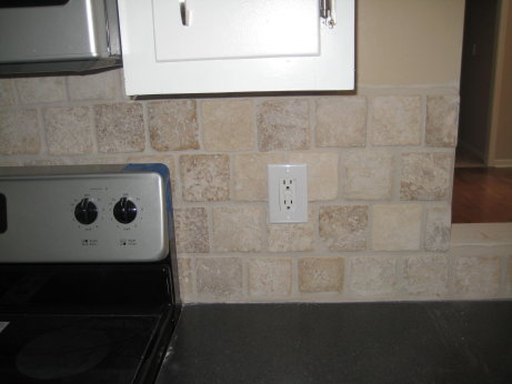 View of Tile Backsplash