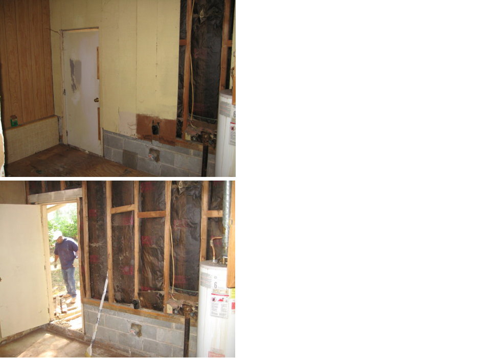 Demo of Laundry Room