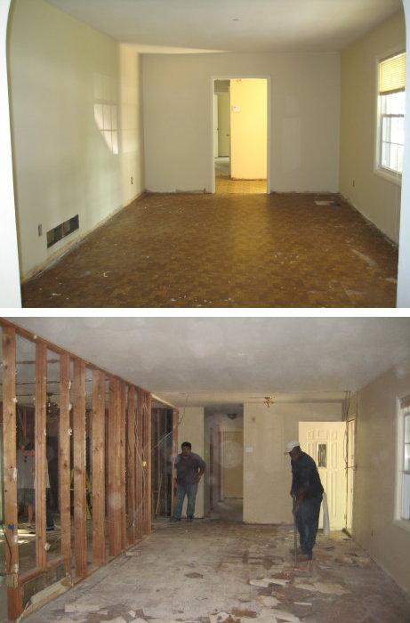 Demo of Living Room from Back